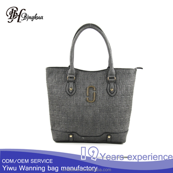M 6092 Import Handbag From China Custom Handbags Metal Tags Tote Bag