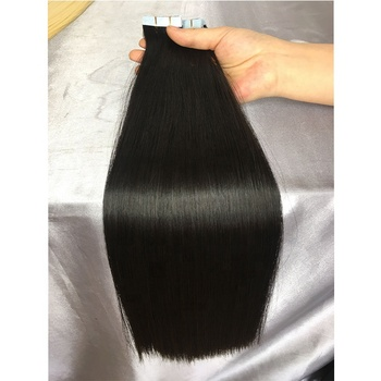 4*1 cm Tape Double Drawn Human Tape Hair Extension 10-24 Inch In Stock No Short Hair