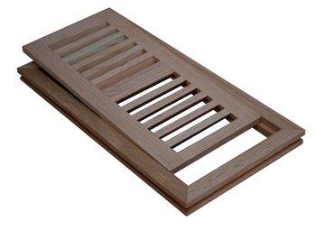 4 X 10 Oak Maple Flush Mount Wood Floor Air Vent W Frame