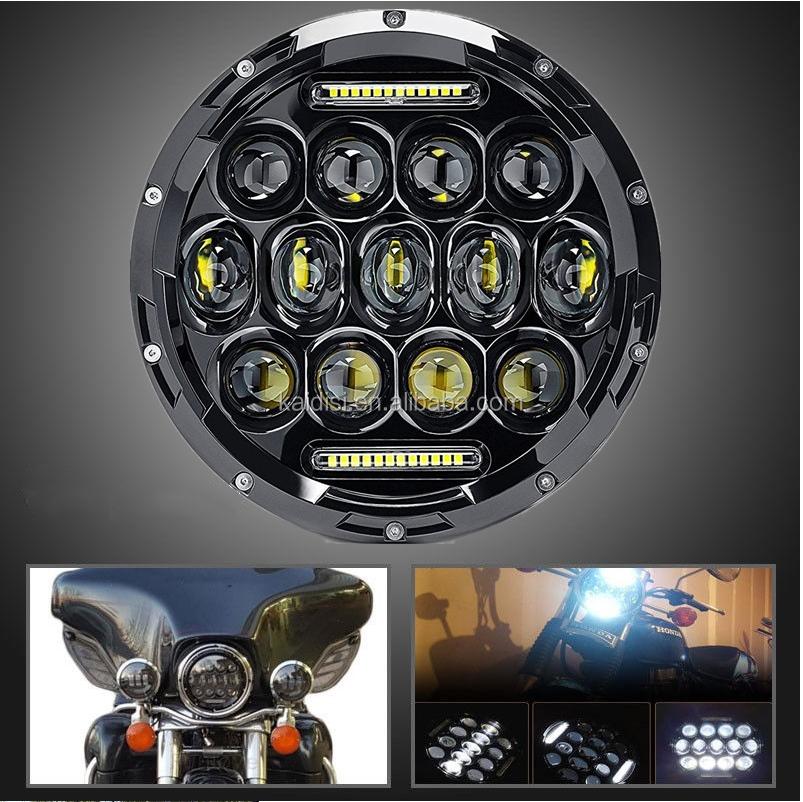 7inch LED Koplamp 80W Hoge Dimlicht 12V DRL Halo Hoek Ogen Led Koplamp voor Jeep Wrangler TJ JK LJ Lada Niva Offroad