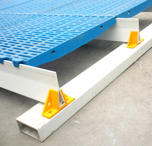 Plastic slats fiberglass beams pig farming equipment, frp triangle support beam pig farm construction