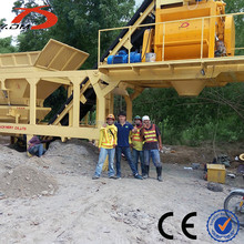 Ready Mixed Mobile Concrete Batching Plant Price YHZS50
