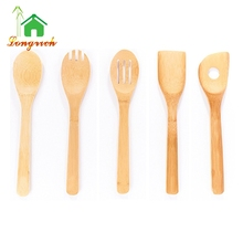 Kitchen high quality Eco-friendly Natural Wholesale Core Bamboo cooking dining Salad Utensil Set