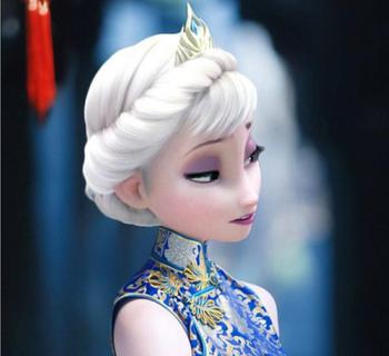 wholesale frozen elsa crown frozen elsa hair ornament frozen elsa