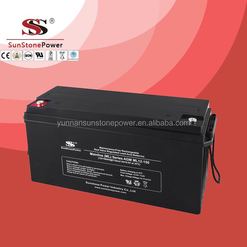 12 v onduleur solaire 150ah batterie rechargeable au plomb agm batterie d charge profonde. Black Bedroom Furniture Sets. Home Design Ideas