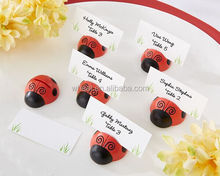 "Wedding Favors ""Cute as a Bug"" Ladybug Place Card/Photo Holder"