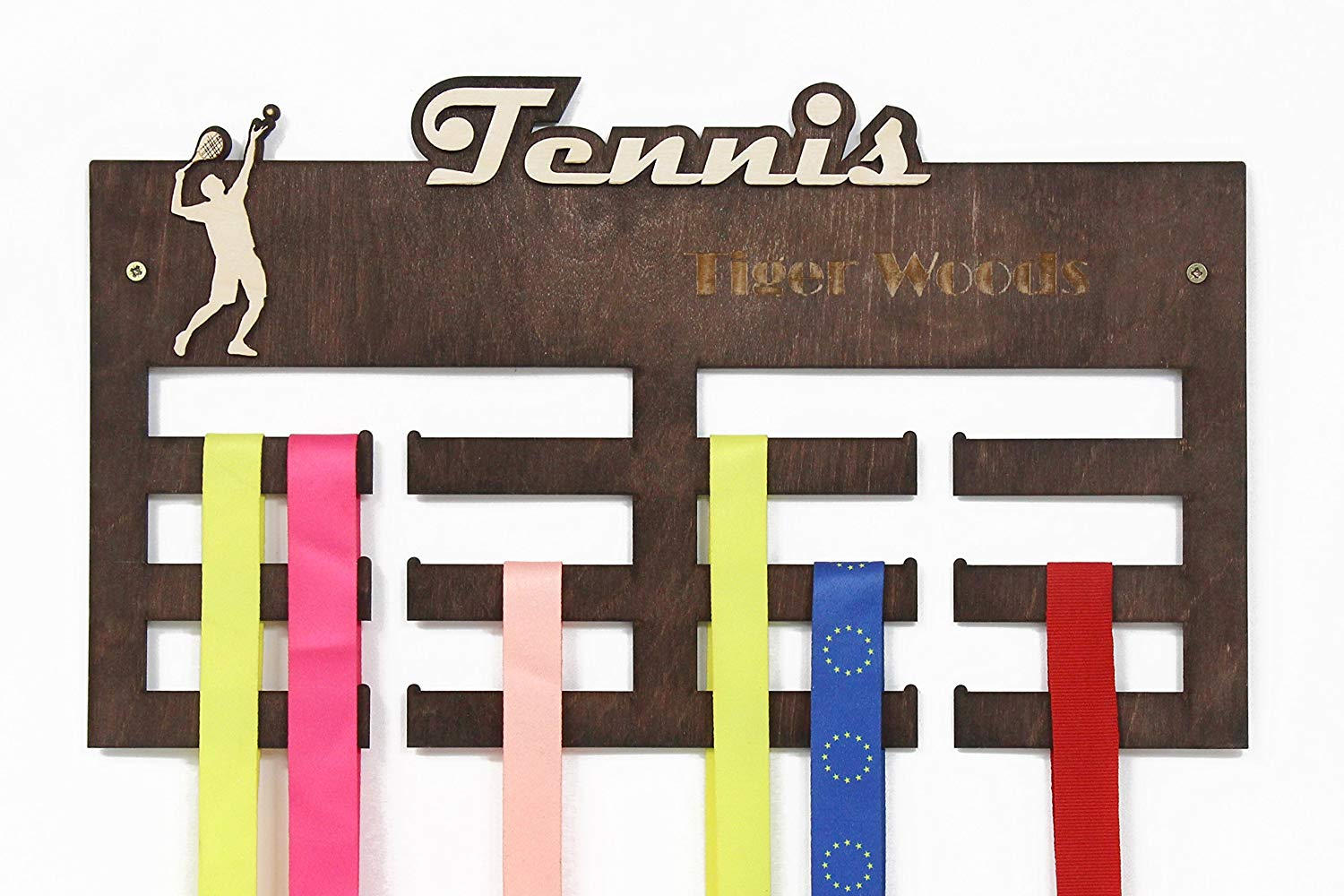 All sports Medal Display, Tennis, Medal Hanger, Medal Display, Medal Rack, Medal Holder, Tennis Gifts, Gift for Boyfriend, Tennis Player, Personalized Medal Hanger