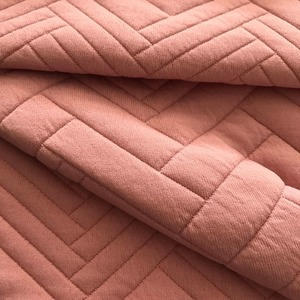 Foil high quality 100% Polyester textured knitted jacquard fabric for garments