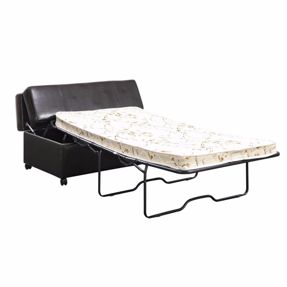 - Leather Living Room Folding Ottoman Bed - Buy Operating Room Bed