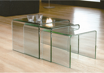 Italian bent curved glass nesting coffee table buy coffee table italian bent curved glass nesting coffee table watchthetrailerfo