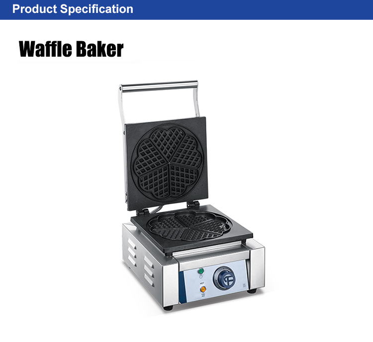 CE Certificate Industrial Commercial Peach/Heart Shape Waffle Maker /Enameled Surface Waffle Making Machine