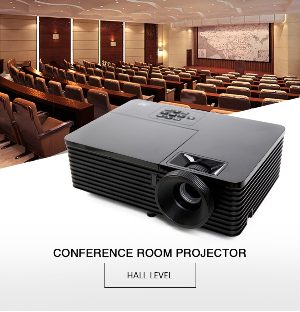 "VS131 New Design 0.55"" SVGA 15000:1 ratio 3500ansi lumens 1080p dlp long throw projector 100 feet"