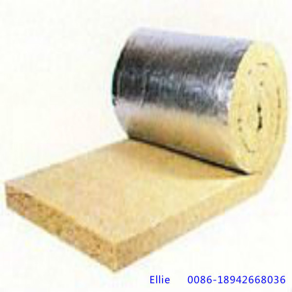 Rock wool blanket roll with aluminium foil on one side for Mineral wool blanket