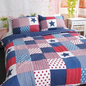 22b78ceee7e7 Бестселлером Южная Корея звезда шаблон и в полоску 100% хлопок лоскутное  одеяло набор 3 шт