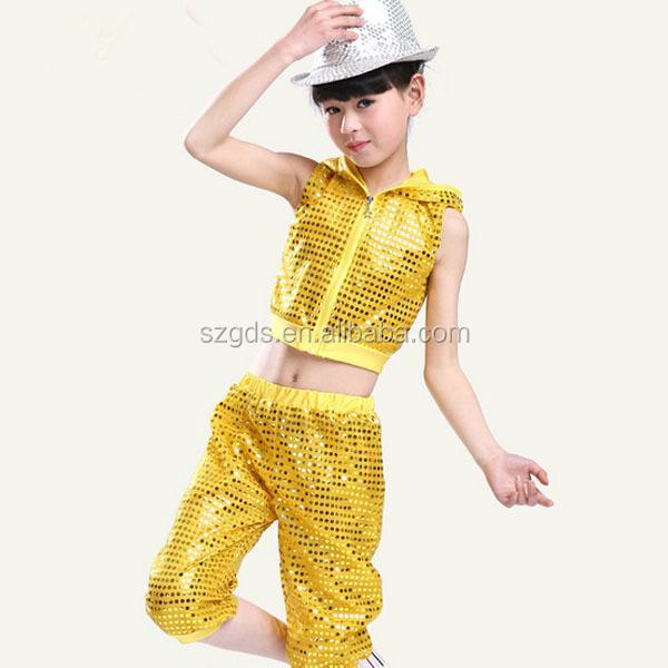 2015 Hot Children\u0027s Day Sequined 2pcs,set Jabbawockeez Dance Costume Unisex  Dance Costume Jazz( Yellow/ Red/ Green/ Black) , Buy Jazz Dance