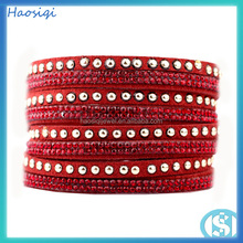 Factory Directly Wholesale 12PCS Order American Style bracelet 2014 DIY Design Fashion leather bracelet