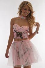 Розовое камуфляжное платье с лямкой на шее для выпускного вечера, Короткие мини-платья с камуфляжным принтом, вечерние платья для выпускног...(Китай)