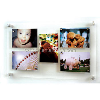 Wall mount acrylic picture frames with 4 standoffs