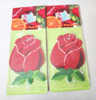 Flower shaped paper hanging rose scented air freshener