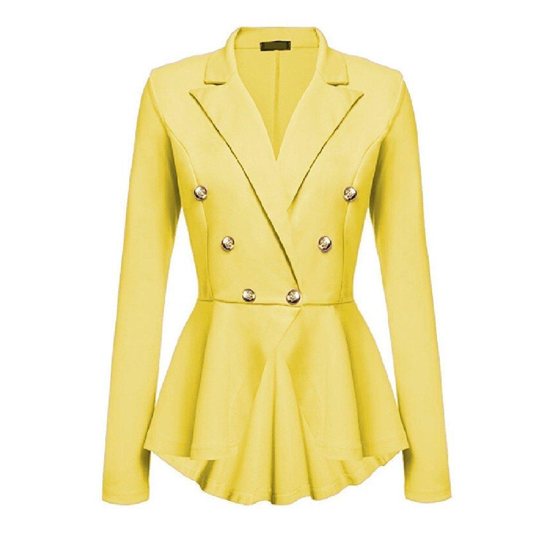ac3f98bbdc5 Get Quotations · XiaoTianXin-women clothes XTX Women Lapel Coat Tuxedo  Blazer Slim Fitting Blazer