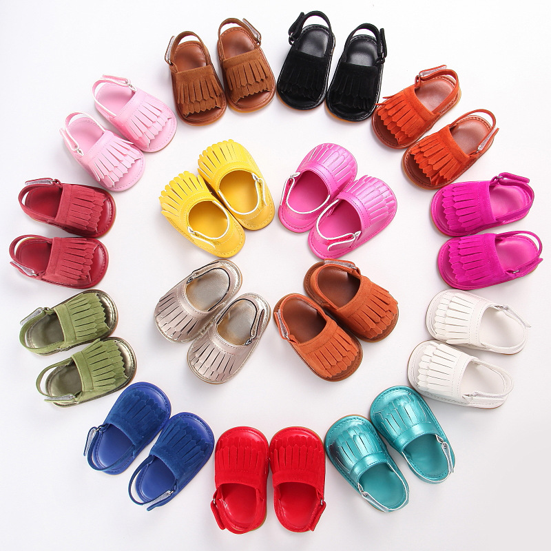 Fashion skidproof shoes soft rubber bottom sandal shoes