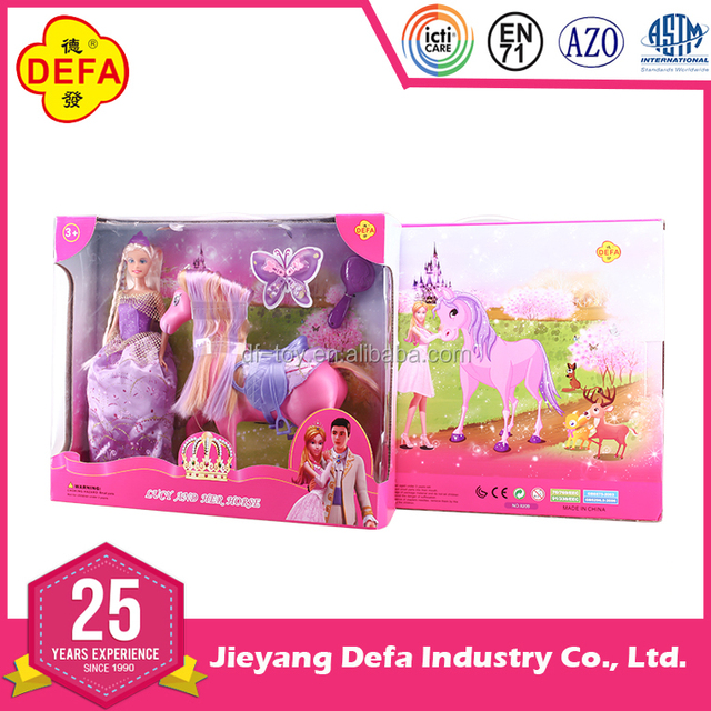 2016 hot selling high quality girl doll with fairy horse with EN71 certification
