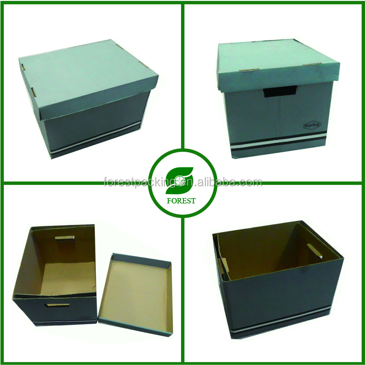 Customized Printed Cardboard Food Storage Container with Lid