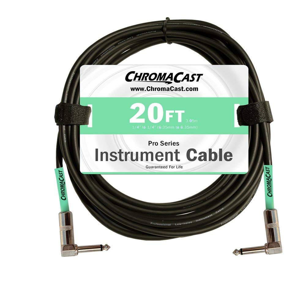 ChromaCast Pro Series Cables CC-PSCBLAA-20SGR Surf Green 20-Feet Pro Series Instrument Cable