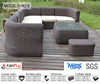 outdoor rattan sofa with footrest
