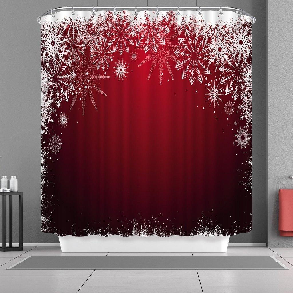 Shower Curtains Hooks Liners Vancar Waterproof Bathroom