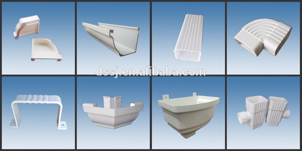Building Materials Pvc Rain Gutter 90 Degree Elbow