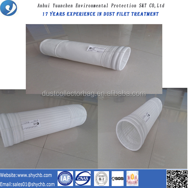 Dust Collector Polyester NonWoven Filter Bag For Cold Mix Asphalt Plant With Free Sample