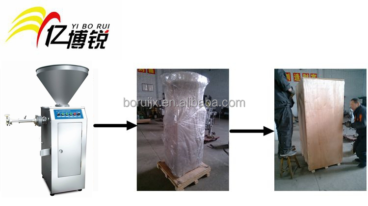 Automatic sausage filling machine with twister for natural casing, collagen casing