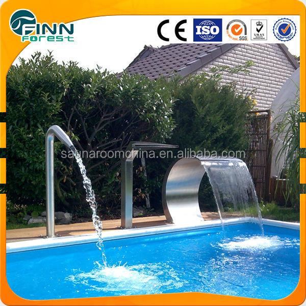 Piscina equipo de ducha cascada de acero inoxidable for Piscina acero inoxidable precio