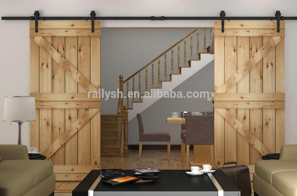 American style Wood Panel Sliding Barn Doors Quiet & American Style Wood Panel Sliding Barn Doors Quiet - Buy Exterior ...