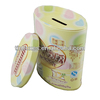 oval metal tin money box