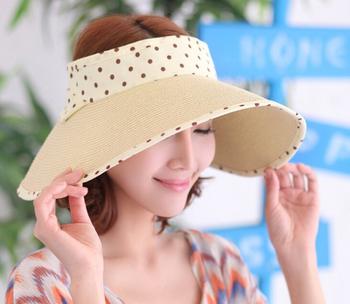 roll up beach hat cheap paper visor hat women paper straw ladies foldable  sun visor hat 0a2e83dabe2