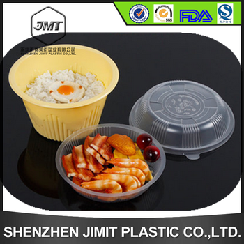 Plastic Microwavable Lunch Containers With Dividers For Noodle