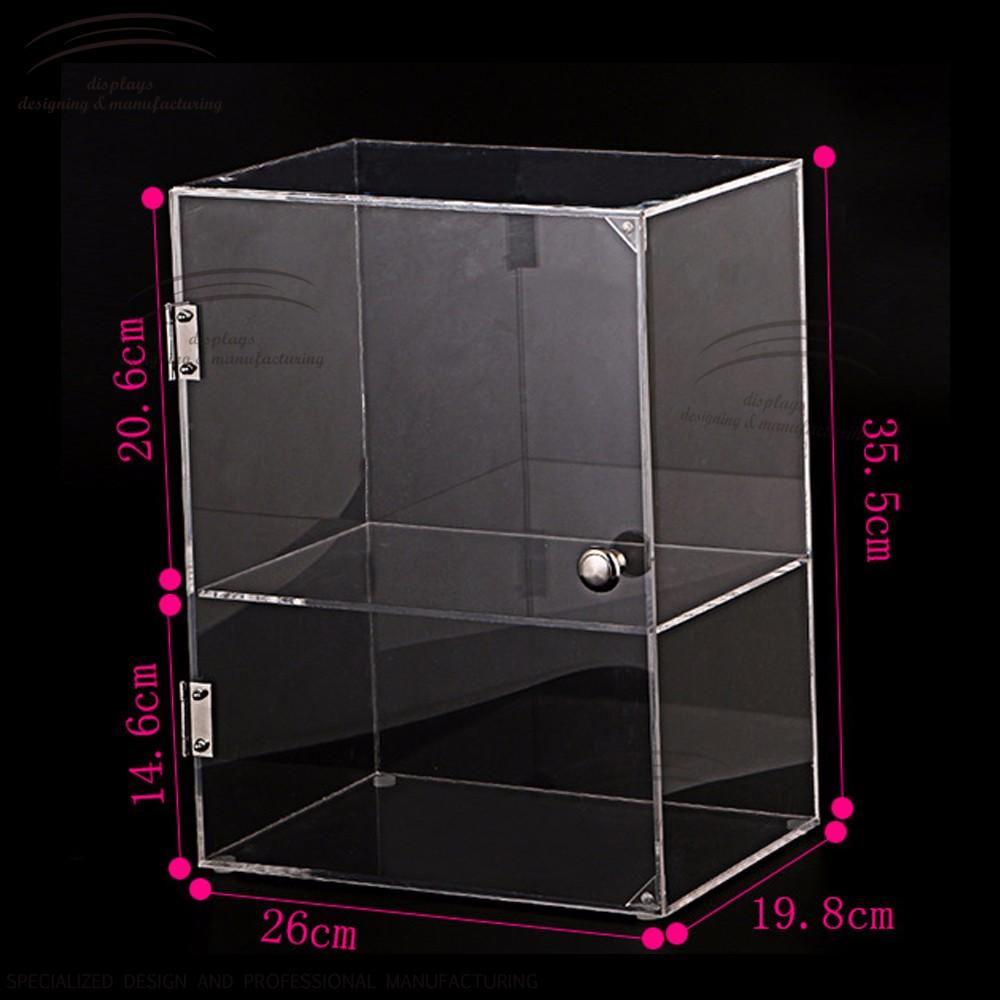 Weitu Nail Polish Display Case With Lock Acrylic Display Case ...