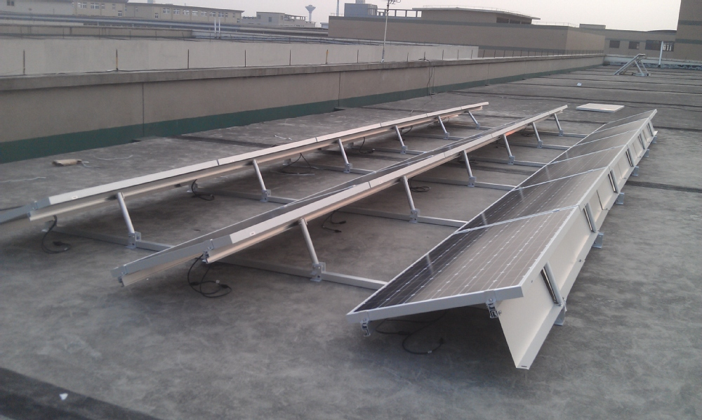 Ballasted Solar Racking Mounting System For Flat Roof Pv