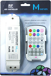 M3+M4-5A;M3 touch remote with M4-5A CV Receiving controller;DC5V-DC24V input;5A*4CH Max 20A output