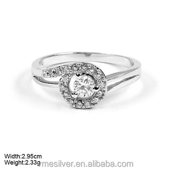 Wholesale JZ-499 925 Silver Ring with CZ Stones China Jewelry ...