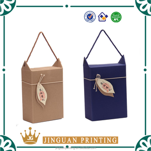Custom made kraft paper packaging gift packaging shipping wax corrugated box