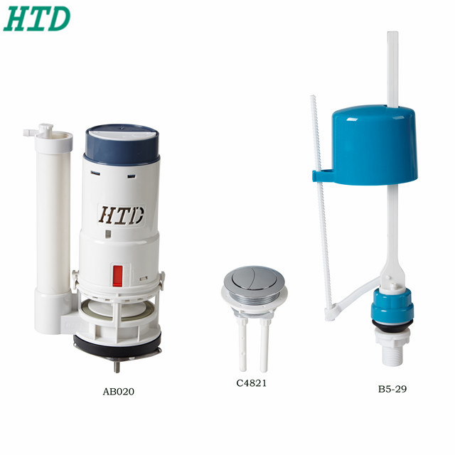 Safety sanitary wc accessories set flush valve patrs toilet cistern mechanism