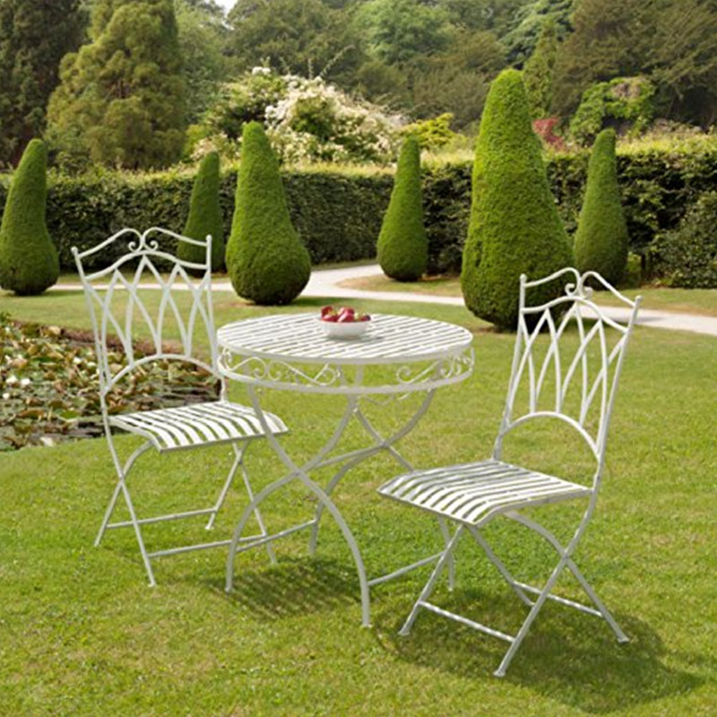 Outdoor Sage Green Folding Wrought Iron Pro Garden Furniture Buy Pro Garden