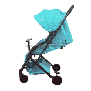 Easy foldable baby stroller double brake suspension wheels