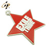 Professional Cheap Customized Promotional zinc alloy silver super star metal pendant