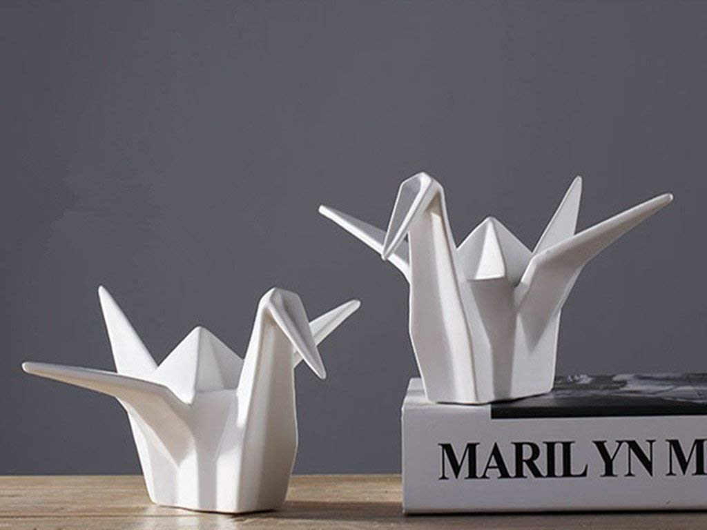 Ceramic papercranes Home decoration, home furnishing articles, business gifts