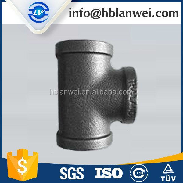 130R TEE Banded Reducing Casting Iron pipe fittings galvanized & black