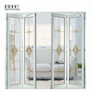 New Design Kerala Aluminum Bifold Frosted Glass Door